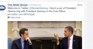 Welcome to Twitter @NicolasSarkozy