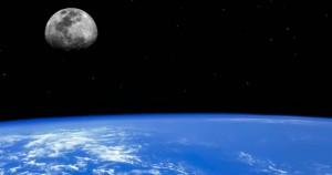 Η σελήνη και η Γη από το διάστημα