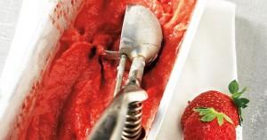 Frozen yogurt με γεύση φράουλα