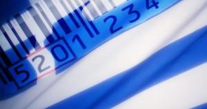 Ελλήνικη σημαία & bar code