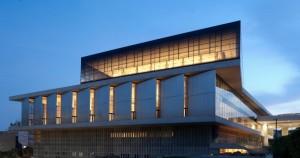 Μουσείο Ακρόπολης. Bραδινή ανατολική όψη του Μουσείου