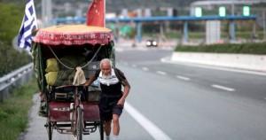 Κινέζος ποδηλάτης πάει Λονδίνο μέσω Λάρισας