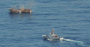 Το ιαπωνικό αλιευτικό που είχε παρασυρθεί κοντά στην Αλάσκα από το τσουνάμι.