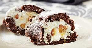 Κορμός σοκολάτας με καραμελωμένα αμύγδαλα