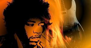 Ο Τζίμι Χέντριξ βάζει φωτιά στη κιθάρα του