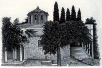 Ο Ναός σε πίνακα ζωγραφικής