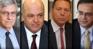 Οι Τ. Γιαννίτσης, Γ. Ζανιάς, Γ. Στουρνάρας και Γκ. Χαρδούβελης