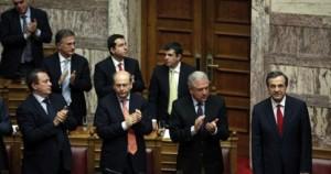 Ψήφο εμπιστοσύνης με 179 «ναι» έλαβε η κυβέρνηση ΝΔ-ΠΑΣΟΚ-ΔΗΜΑΡ