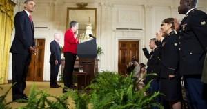 Από την ομιλία του Ομπάμα στους στρατιώτες που κέρδισαν την αμερικανική υπηκοότητα
