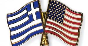 Σημαίες Ελλάδας-Αμερικής