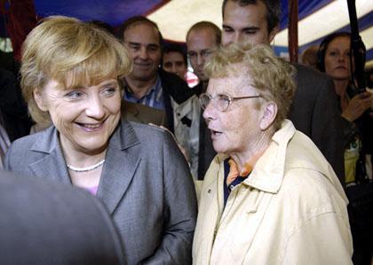 Η Μέρκελ με τη μητέρα της