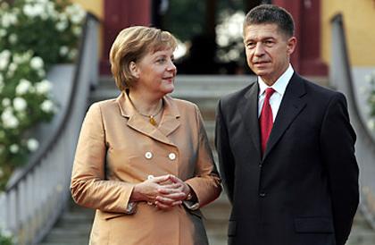 Η Μέρκελ με τον πρώην συζυγό της