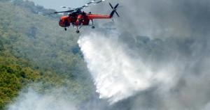 Ρίψεις νερού με ελικόπτερο