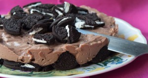 Τούρτα με Oreo και κρέμα σοκολάτας