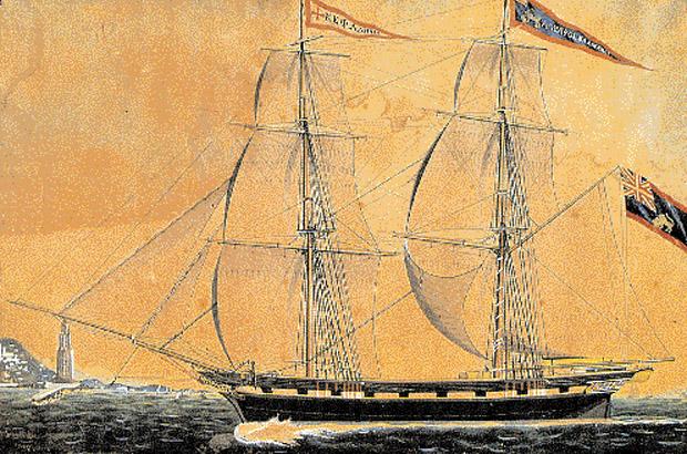 Κεφαλονίτικο εμπορικό πλοίο του 19ου αι., ιδιοκτησίας της οικογένειας Βαλιάνου.