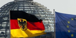 Η Γερμανική και η Ευρωπαϊκή σημαία