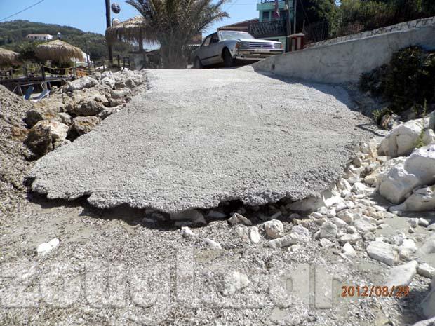 Τσιμέντο στα βράχια