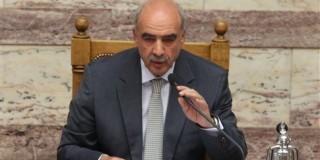 Ο πρόεδρος της Βουλής Β.Μεϊμαράκης