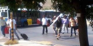 Διαδηλωτές στην ΔΕΘ