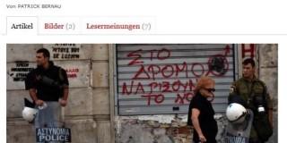 """Οι Γερμανοί γράφουν:""""Η Ελλάδα θυμίζει Αφγανιστάν"""""""