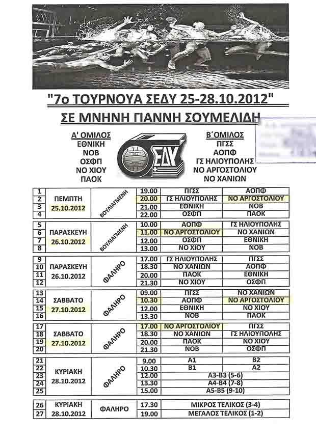 """Ο Ν.Ο.Α. στο 7ο Τουρνουά Υδατοσφαίρισης """"Γιάννης Σουμελίδης"""""""