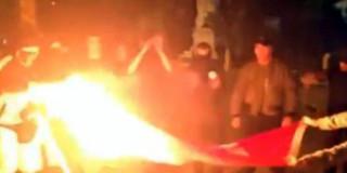 Κάψιμο Τουρκικής σημαίας