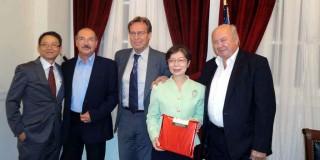 Από την επίσκεψη της κ. Taipei στην Κεφαλλονιά