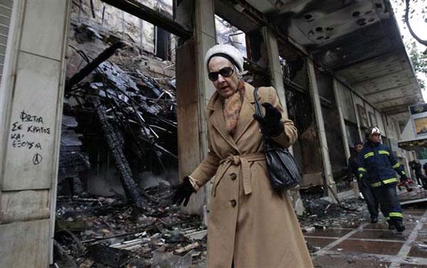 Καταστροφές στο κέντρο της Αθήνας