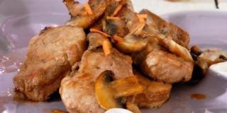 Τηγανιά με ψαρονέφρι και μανιτάρια