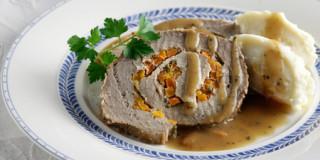 Ρόστο («ψητό» κρέας) γεμιστό με καρότο
