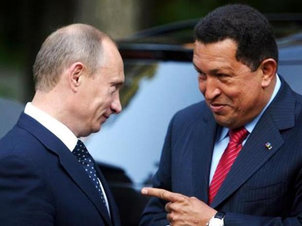 Ο Τσάβες με τον ρώσο πρόεδρο Πούτιν