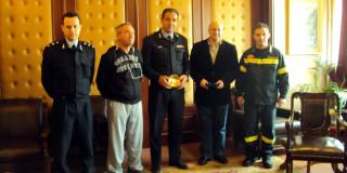 Επίσκεψη του Περιφερειάρχη Πυροσβεστικής στην ΠΕ Κεφ/νίας