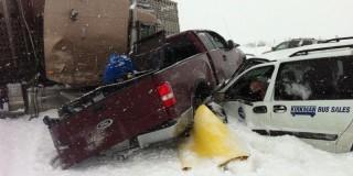 Καναδάς:Μεγάλη καραμπόλα αυτοκινήτων με τουλάχιστον 300 τραυματίες