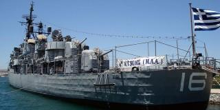 Το θρυλικό αντιτορπιλικό «Βέλος» είχε πρωτοστατήσει στο Κίνημα του Πολεμικού Ναυτικού κατά της Χούντας, το 1973