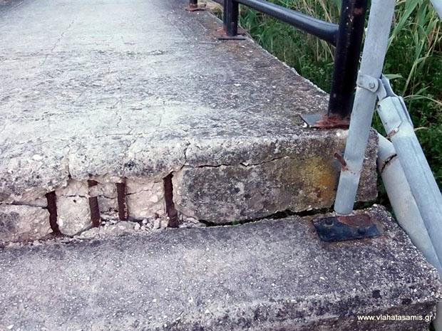 γέφυρα στον παραλιακό Σάμης - Καραβομύλου