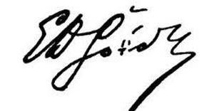 Η υπογραφή του Εμμ.Ροίδη
