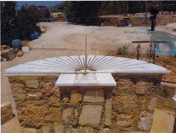 Ηλιακό ρολόι στα Ραζάτα