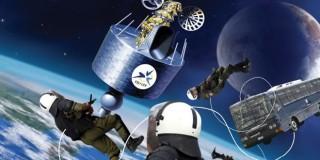 Οι ομάδες των «Αστρο-ΜΑΤ» της κυβέρνησης εν δράσει, προσεγγίζουν τον δορυφόρο της EBU με εντολή Σαμαρά (Digital Artwork: Μάκης Ανασιάδης)