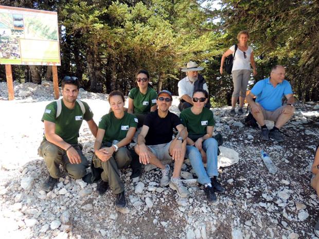Ομάδα Φιλελλήνων Φοιτητών απο την Αυστρία στον Εθνικό δρυμό Αίνου