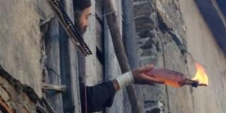 Μονή Εσφιγμένου: Μοναχός ρίχνει μολότοφ