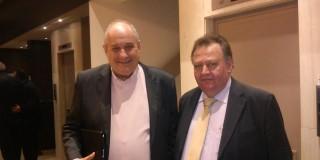 O Τέρρυς Σταματάκης μαζί με τον Τέρενς Κουικ.