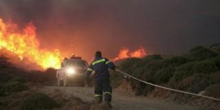Σε εξέλιξη πυρκαγιά κοντά στον οικισμό Κουρουπάτα στην Κεφαλονιά(φωτογραφία αρχείου)