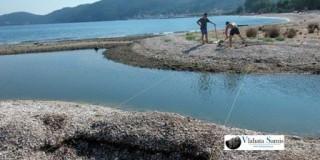 Καραβόμυλος: Κατασκευή προσωρινής πεζογέφυρας