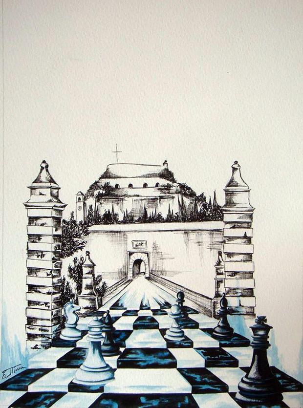 Η έκθεση της Ειρήνης Πέννα με θέμα το σκάκι