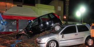 Εικόνες καταστροφής από την κακοκαιρία που έπληξε τη Ρόδο