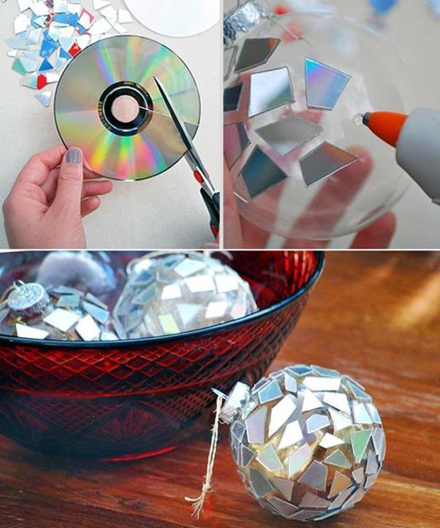 CD-Turned-Disco-Ornament
