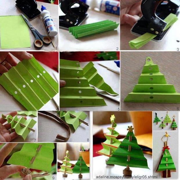 Paper-Craft-Christmas-Tree-Decoration