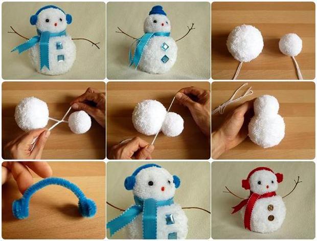 Pom-Snowman