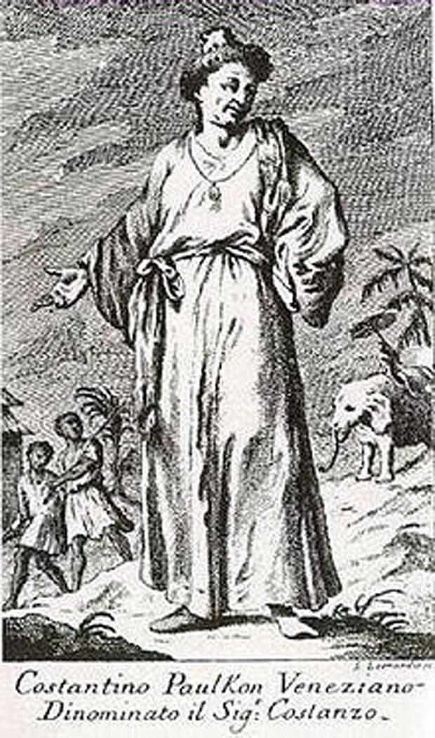 Ο Κωνσταντίνος Γεράκης σε σκίτσο της εποχής του