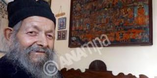 Ο Μοναχός Ευσέβειος 90 χρόνων που ζει τις τελευταίες 20 μέρες με σεισμογράφο στο κελί του στο Μοναστήρι της Παναγίας Ευαγγελίστριας στα Κηπούρια Παλικής στην Κεφαλονιά